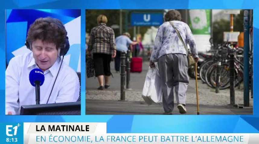 Illustration pour la vidéo Le match économique France-Allemagne pourrait tourner à l'avantage de la France