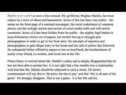 Prince Harry goes on warpath against press hounding of girlfriend