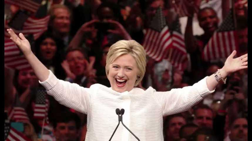 Illustration pour la vidéo Hillary Clinton : candidate officielle des Démocrates