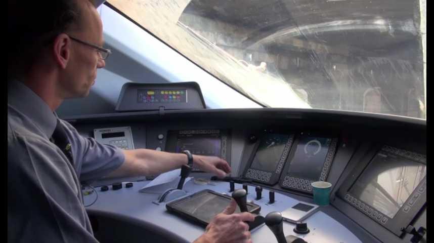 Illustration pour la vidéo Paris-Londres dans la cabine du nouvel Eurostar e320