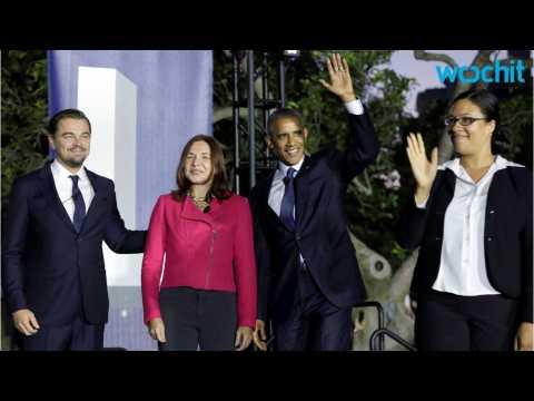 Leonardo DiCaprio Talks Climate Change with President Obama