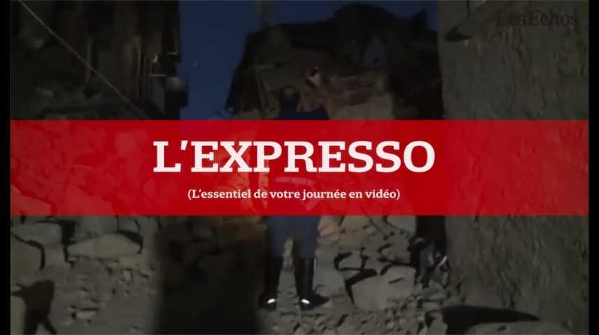 Illustration pour la vidéo L'Expresso du 24 août 2016 : un séisme frappe le centre de l'Italie...