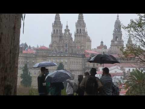 Heavy rain in Galicia, Spain