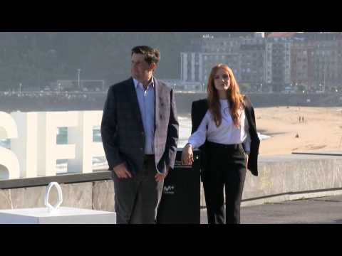 """Michael Showaltery and Jessica Chastain present """"The eyes of Tammy Faye"""" in San Sebastián"""