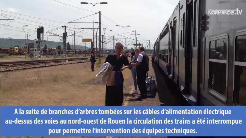 La circulation des trains interrompues en Normandie