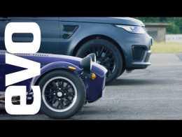 2018 land rover sport svr. Plain 2018 Range Rover Sport SVR V Caterham Seven 360R  Evo Drag Races And 2018 Land Rover Sport Svr