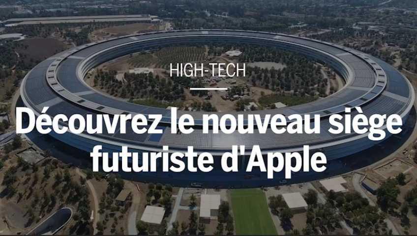 Apple se paye un siège en forme de gigantesque vaisseau spatial