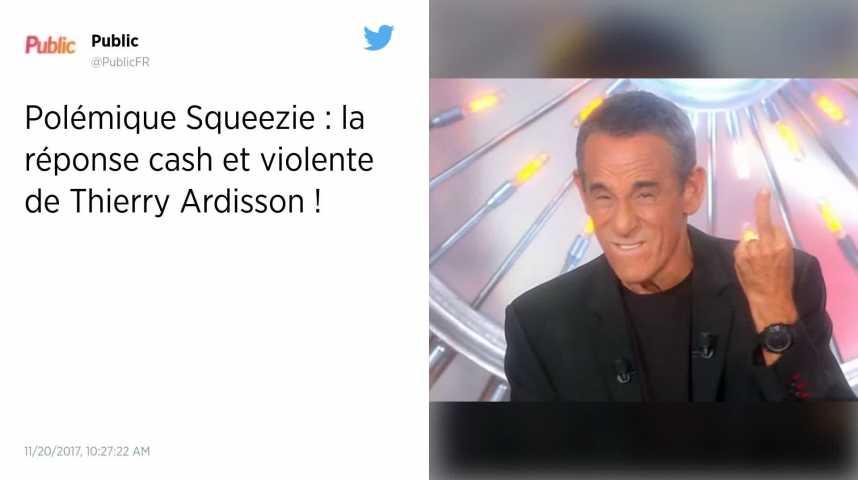 Thierry Ardisson répond à la polémique sur son interview de Squeezie avec un doigt d'honneur