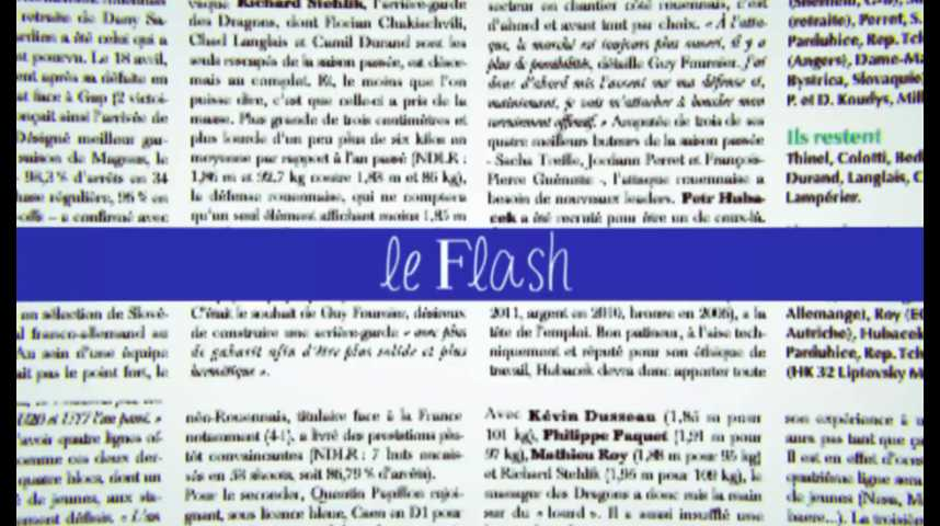 Le Flash du 13 juillet