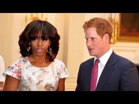 Le Prince Harry rencontre Michelle Obama et reçoit un accueil de star à la Maison Blanche