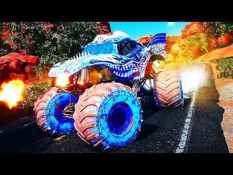 "MONSTER JAM STEEL TITANS ""Fire & Ice DLC"" Gameplay Trailer (2019) PS4 / Xbox One / PC"