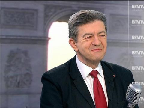 """Jean-Luc Mélenchon: """"la taxe à 75% est stupide"""" - 02/04"""