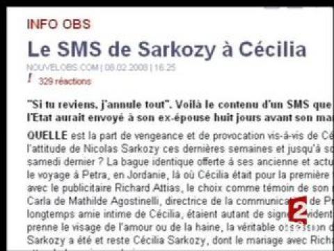 [Publication SMS de Nicolas Sarkozy sur le site du Nouvel Observateur]