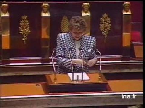 Assemblée nationale : discours de politique générale d'Edith Cresson