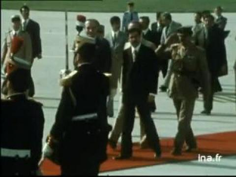 Arrivée Saddam HUSSEIN