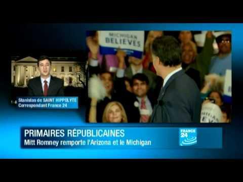 Romney réalise un doublé salvateur en Arizona et dans le Michigan