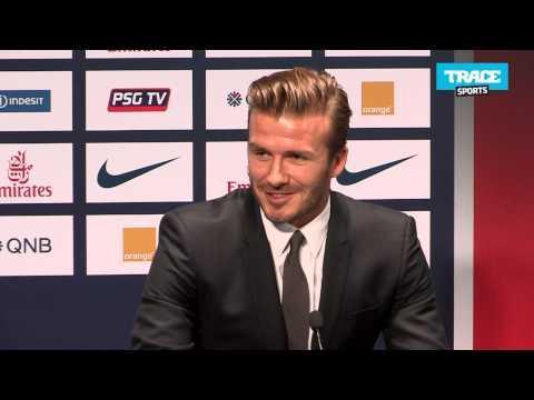 """David Beckham: """"Je suis très excité de signer pour le PSG"""""""