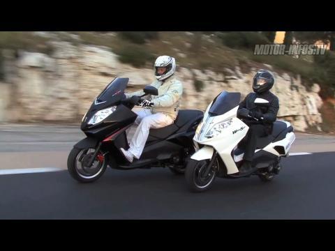 Video Blacksat & WhiteSat : les versions musclées du Peugeot Satelis 125 !