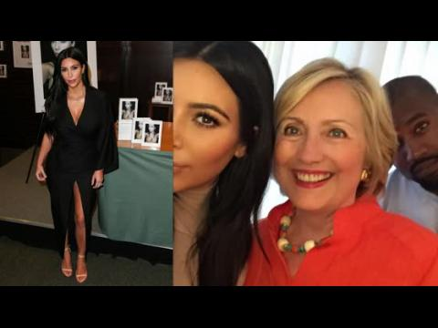 Kim Kardashian partage un selfie avec la candidate Hillary Clinton