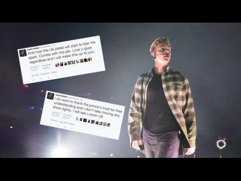 Justin Bieber présente ses excuses pour avoir dû annuler un concert au Royaume-Uni