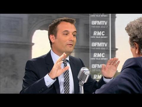 """Philippot: """"J'ai vu M. Cambadélis venir en aide à Jean-Marie Le Pen"""""""