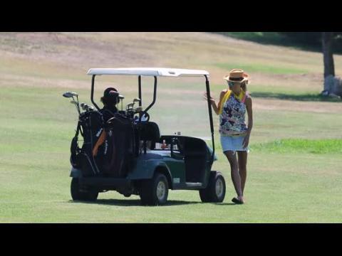 Heidi Klum et Vito Schnabel jouent au golf en Italie