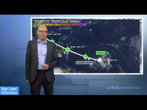 Tempête tropicale ERIKA sur la Guadeloupe : actualisation