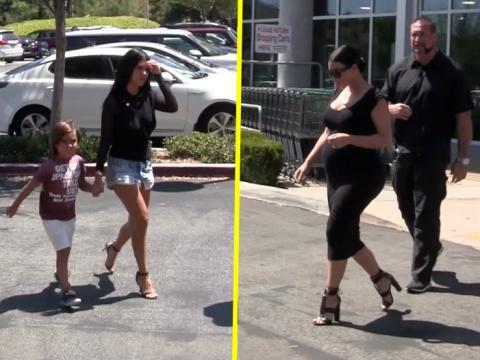 Exclu Vidéo : Kim et Kourtney Kardashian : après-midi shopping à Calabasas pour les célèbres MILF !