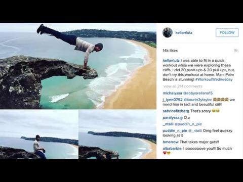 Kellan Lutz trompe la mort en s'entraînant en Australie