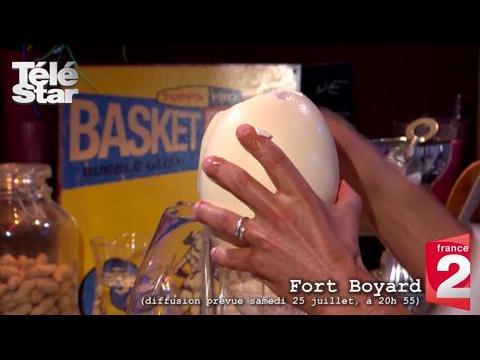 Fort Boyard : les basketteurs de l'équipe de France doivent gober un oeuf d'autruche