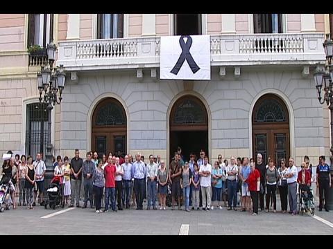 Minuto de silencio en Sabadell por el asesinato de vecina