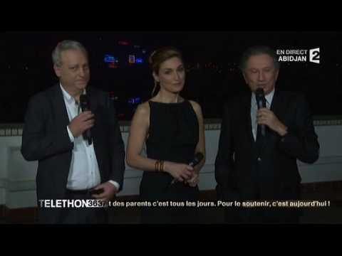 L'apparition surprise de Julie Gayet au Téléthon !