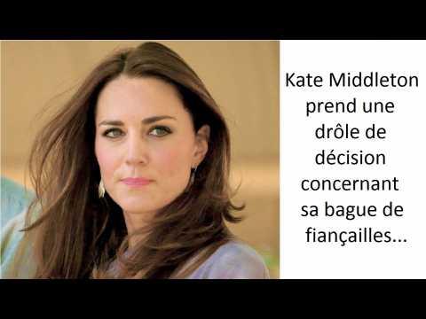 Kate Middleton prend une drôle de décision concernant sa bague de fiançailles
