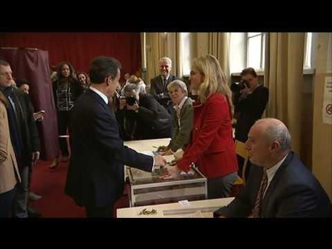 Régionales: vote de Nicolas Sarkozy à Paris