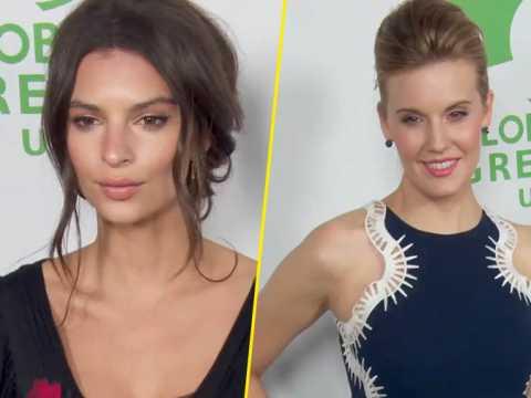 Exclu Vidéo : Emily Ratajkowski et Maggie Grace : Deux bombes à la soirée pré-Oscars Global Green.