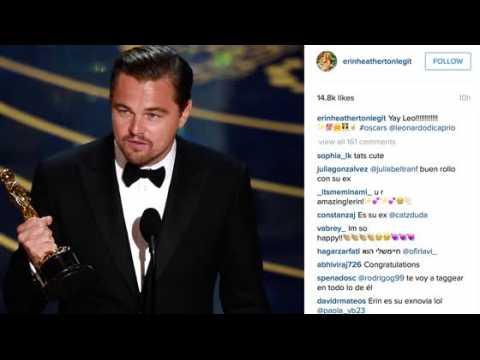 L'ex de Leonardo DiCaprio, Erin Heatherton célèbre sa victoire aux Oscars