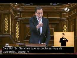 """Rajoy: """"El pacto del PSOE es el bálsamo de Fierabras"""""""