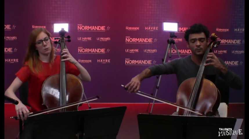 """Paris Normandie """"Le Live"""" - Duo de violoncelles (Hélène Latour et Jacques Perez)"""