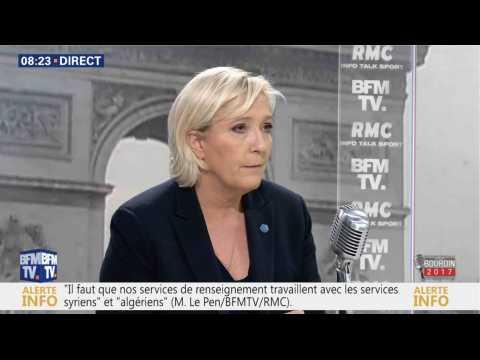 Marine Le Pen : «Je veux éradiquer le terrorisme»  - ZAPPING ACTU DU 23/03/2017