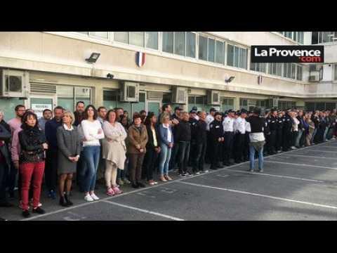 Un hommage rendu à Marseille au policier tué sur les Champs-Elysées