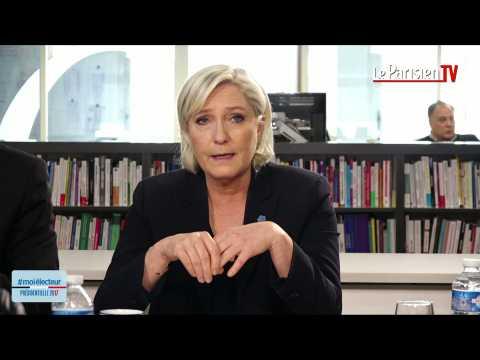 Marine Le Pen face aux électeurs : «Je suis européenne…»