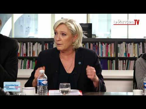 Marine Le Pen face aux électeurs : «Je suis victime d'une persécution judiciaire»