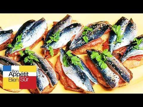 Tartines de sardines marinées