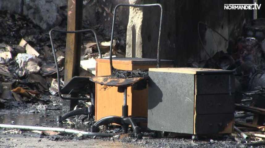 Encore un incendie dans une société de Canteleu