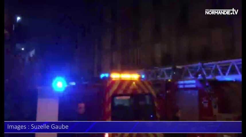 Le Havre : violent feu d'appartement, 23 évacués et 2 blessés légers