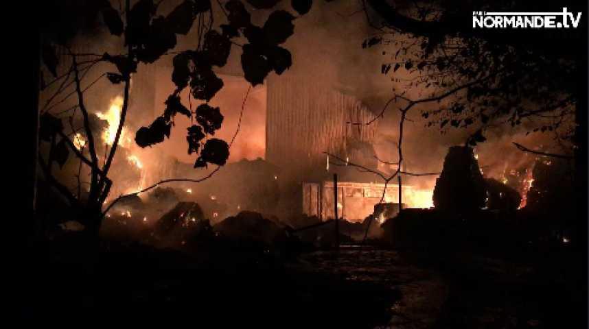 Violent incendie à Paprec dans l'Eure