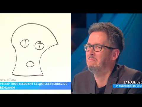 Jean-Luc Lemoine vexé par dessin de lui dans TPMP
