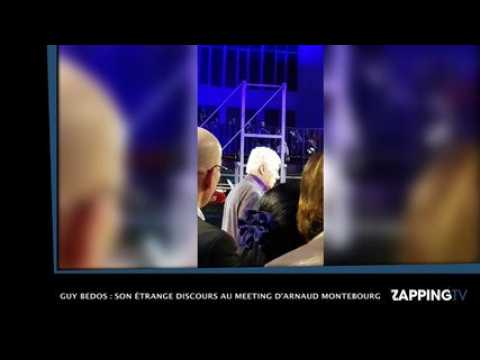 Guy Bedos : son étrange discours au meeting d'Arnaud Montebourg