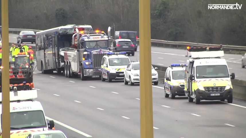 Retour sur l'accident survenu sur l'A13 hier