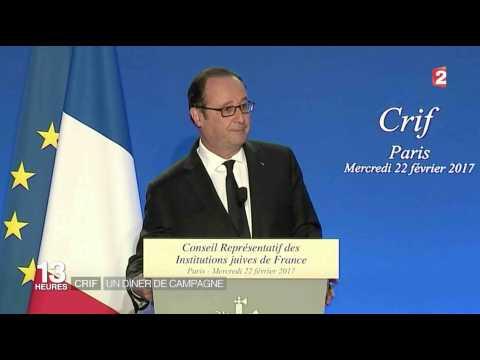 François Hollande tacle Emmanuel Macron au dîner du Crif - ZAPPING ACTU DU 23/02/2017